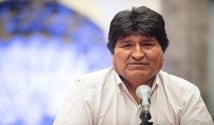 Evo Morales brindó conferencia en encuentro sindical de FENATE Perú