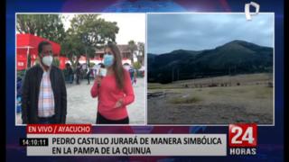 Ronderos de Ayacucho darán seguridad durante juramentación de Castillo en Pampa de la Quinua
