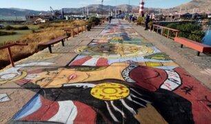 Elaboran la pintura más larga del mundo en Puno