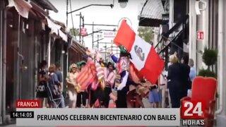 Francia: peruanos celebran Bicentenario con bailes típicos en las calles