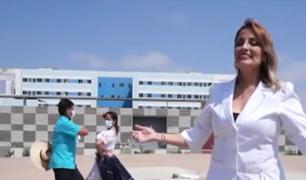 A ritmo de marinera, personal médico rindió homenaje al Perú por el Bicentenario