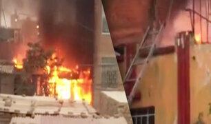 Chiclayo: Voraz incendio deja una familia en la calle
