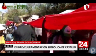 Pampa de la Quinua se alista para juramentación simbólica de Pedro Castillo