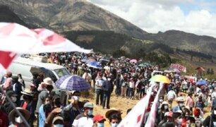 Presidente Castillo en Ayacucho: gran asistencia de público para juramentación simbólica
