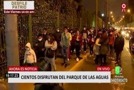 Fiestas Patrias: Largas colas para ingresar al 'Parque de las Aguas'
