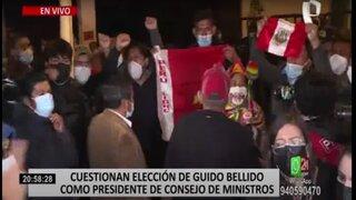 Juramentación de ministros: se registran disturbios en las afueras del Gran Teatro Nacional