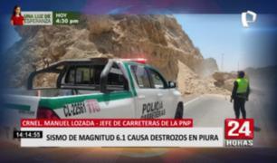 Sismo en Piura: desprendimientos de rocas se registraron en carreteras
