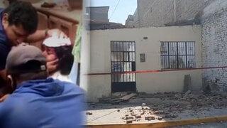 Piura: mujer fue rescatada de los escombros tras sismo en Sullana
