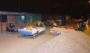 Sismo en Piura: varias familias durmieron en las calles por temor a las réplicas