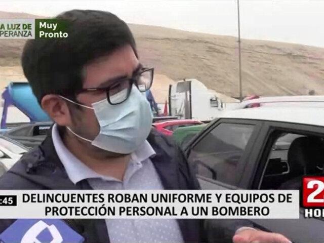 Bombero va dar su examen de manejo y termina siendo víctima de la delincuencia