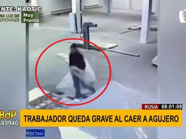 Trabajador cae a agujero y es rescatado por sus compañeros una hora después