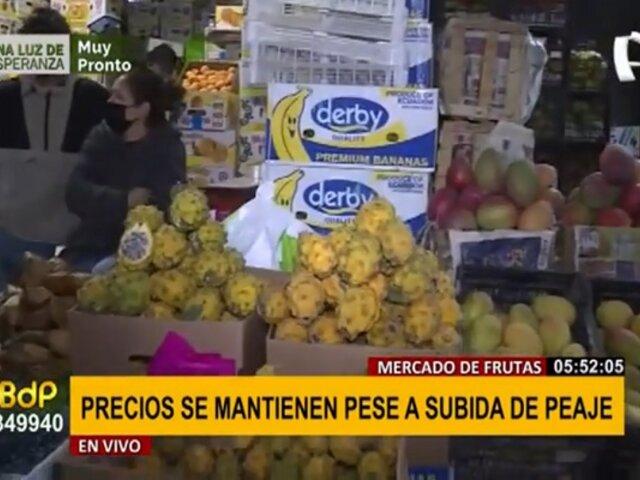 Mercado de Frutas: precios se mantienen pese a subida de tarifa de peaje