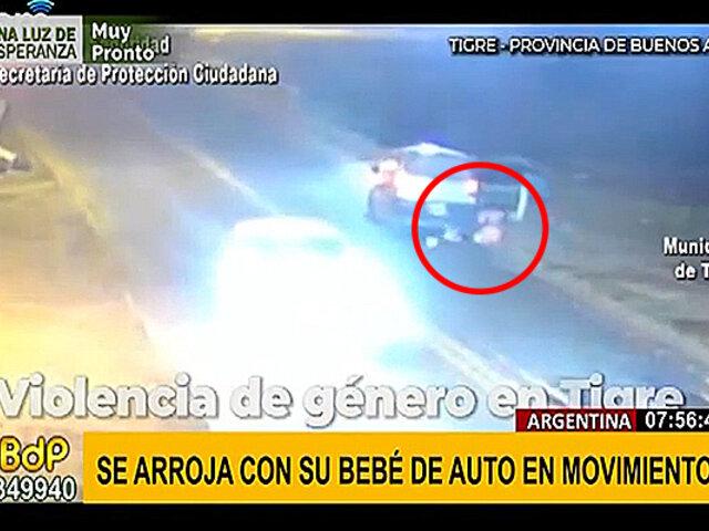 Argentina: mujer se lanza de auto en movimiento con sus hijos para escapar de agresión