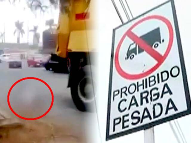 Comas: tráiler atropella a ciclista en zona donde está prohibido el tránsito de vehículos pesados