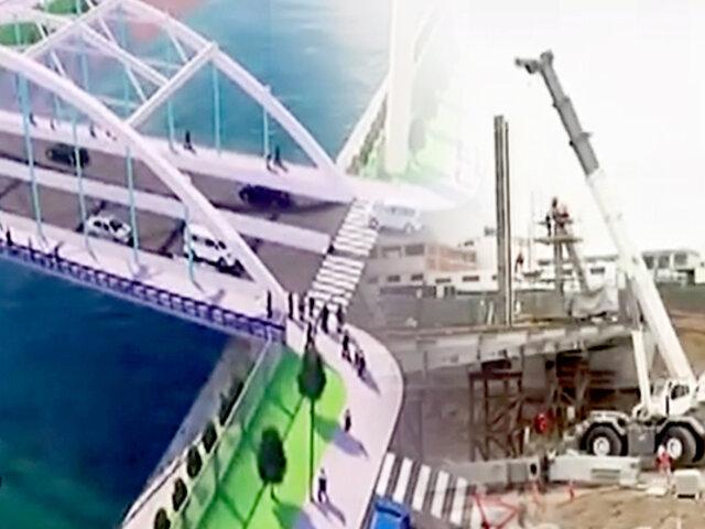 Puente Morales Duárez se encuentra al 72% de avance y será entregado en agosto