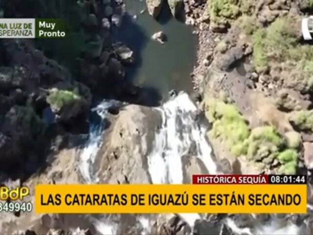 Cataratas del Iguazú se secan debido a la sequía más fuerte de los últimos 91 años