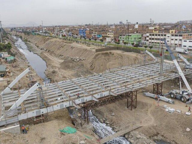 Obra del puente Morales Duárez estaría culminada para septiembre de este año