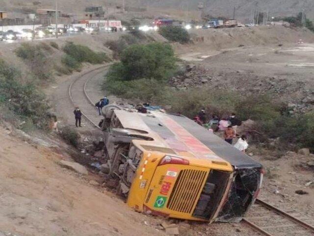 Accidente en Carretera Central: chofer de bus se habría quedado dormido, según pasajeros