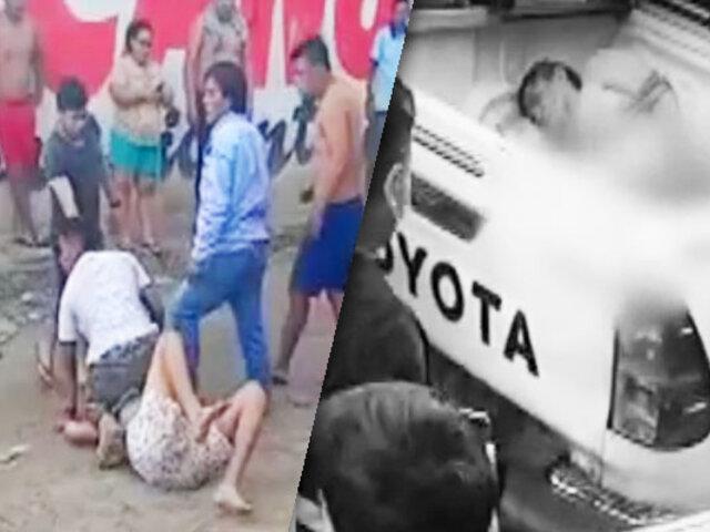 Iquitos: vecinos casi linchan a delincuente que asaltó un camión repartidor