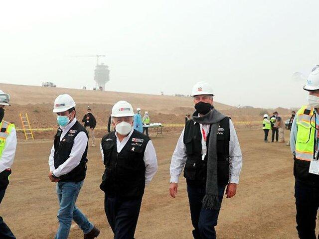 Presidente Sagasti supervisó obras de ampliación del Aeropuerto Jorge Chávez