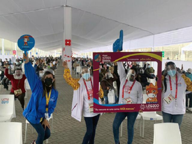 Más de 1.000 voluntarios de Lima 2019 participan en vacunatón