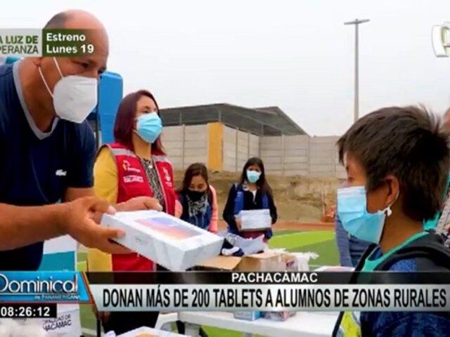 Pachacámac: donan más de 200 tablets para estudiantes de zonas rurales