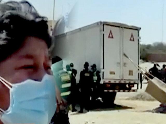 Piura: camión frigorífico atropella a dos niños cuando jugaban