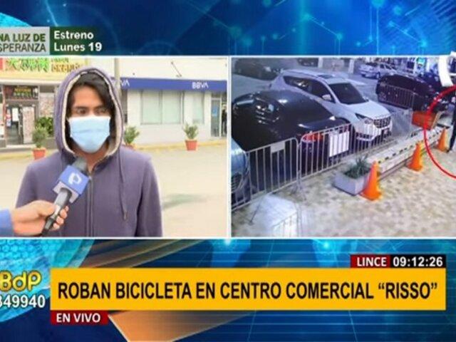 Centro Comercial Risso: denuncian robo de bicicleta bajo modalidad del 'cambiazo'