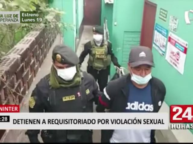 Capturan en Lima a requisitoriado por violación sexual