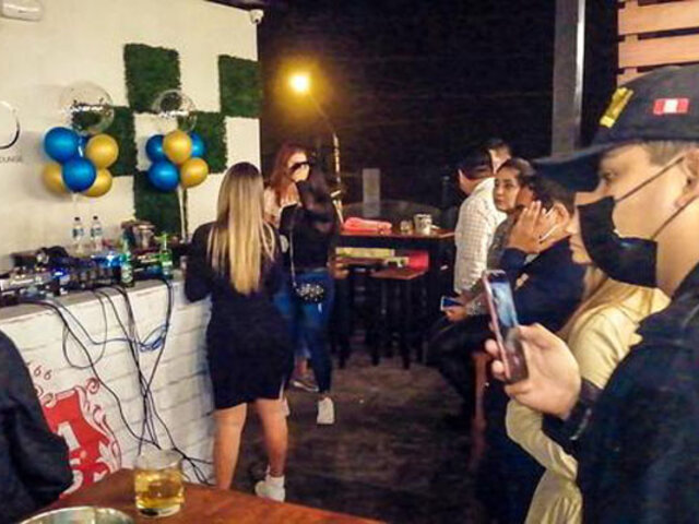 Trujillo: intervienen discotecas que funcionaban durante el toque de queda
