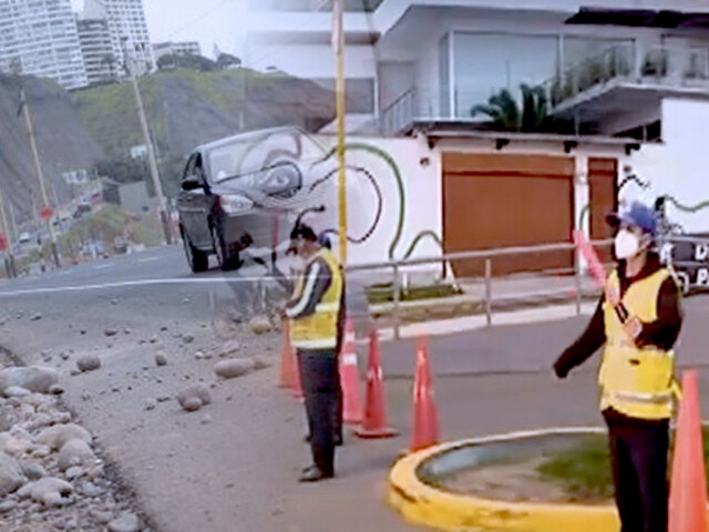 ¡Atención! cierran acceso en la Costa Verde con dirección a la playa La Herradura