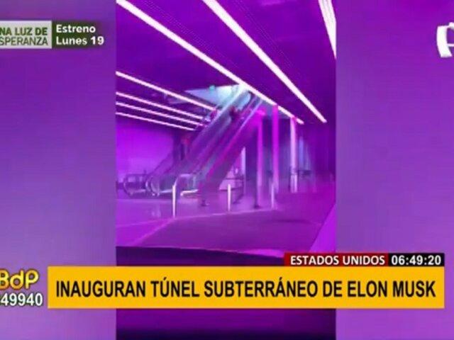 Inauguran túnel subterráneo de alta velocidad y se convierte un todo un éxito