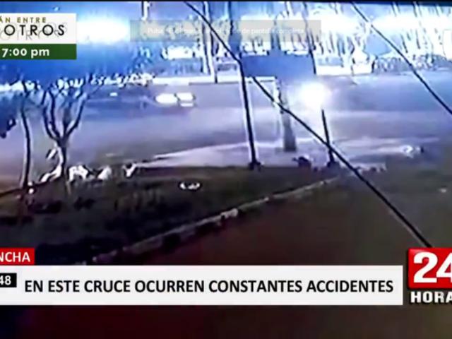 Chincha: captan hasta tres accidentes de tránsito en el mismo lugar