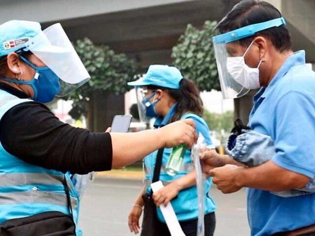 COVID-19: paraderos de Lima Metropolitana donde entregan protectores faciales GRATIS