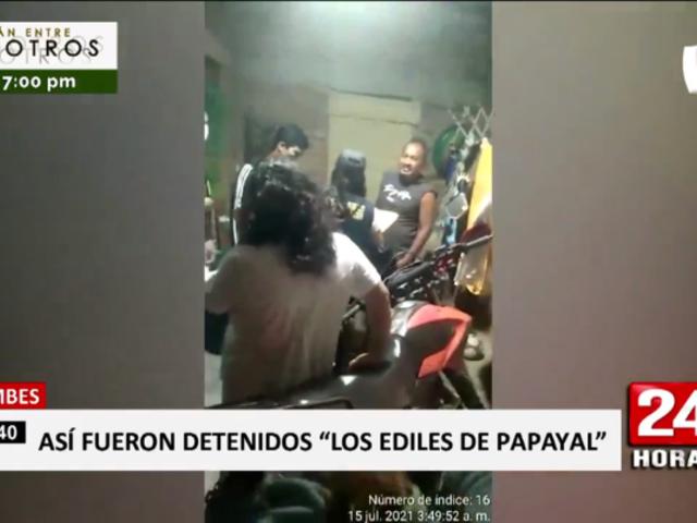 Tumbes: detienen a presuntos integrantes de banda liderada por exalcalde