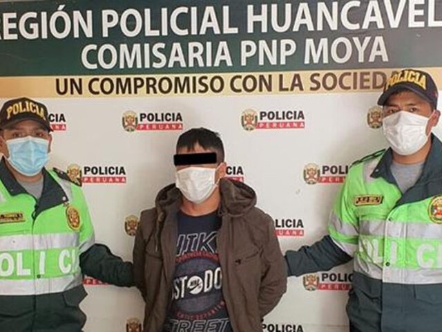 Huancavelica: capturan sujeto que intentó matar a cuchillazos a su pareja