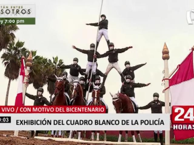 Rímac: exhibición del Cuadro Blanco de la Policía Nacional del Perú