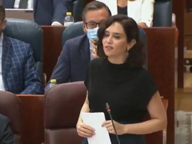 Embajada de Perú en España rechazó expresiones de la presidenta de la Comunidad de Madrid sobre elecciones