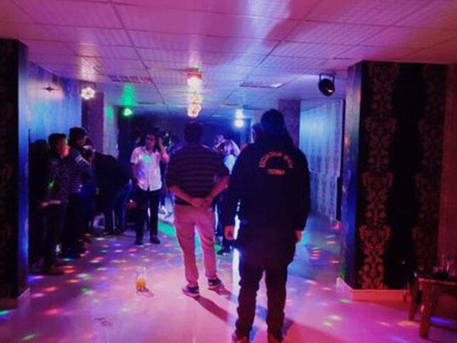 Puno: intervienen discoteca clandestina y detienen a más de 20 personas