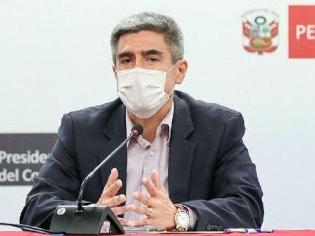 Covid-19: ministro Neyra exhortó al nuevo gobierno respetar cronograma de inmunización