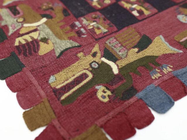 Tras 90 años retornaron al país valiosos textiles Paracas que fueron retirados ilegalmente