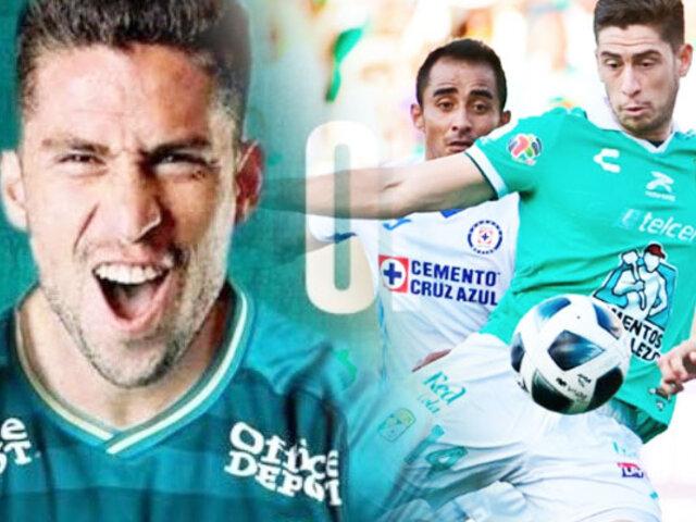 Santiago Ormeño anotó su primer gol en su debut con el León