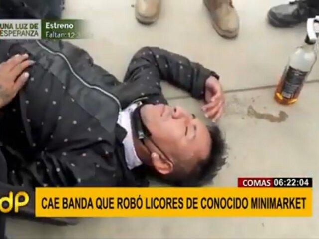 Comas: Cae banda que robó licores en minimarket cuando bebían en un parque