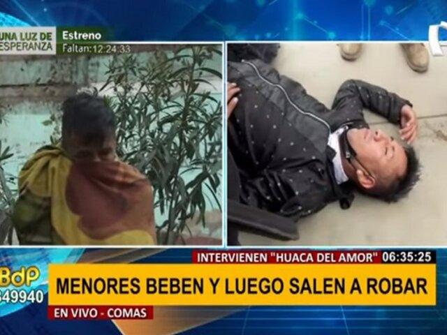 Comas: Hallan a sujeto que fue capturado por robar en minimarket durmiendo en parque