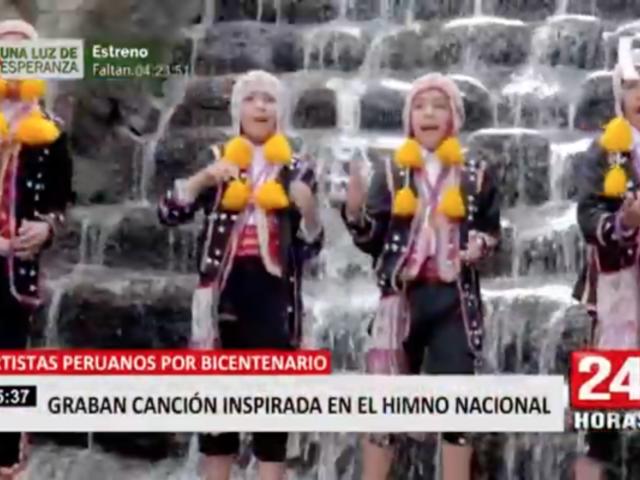 Artistas peruanos por Bicentenario: graban canción inspirada en el Himno Nacional