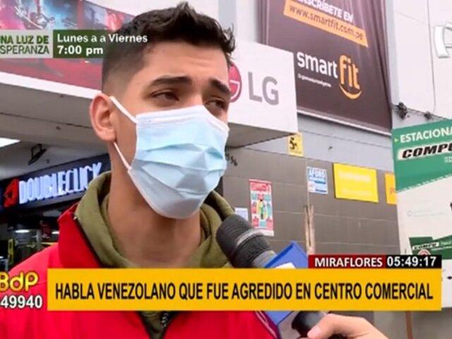 Miraflores: Habla ciudadano venezolano agredido por su compatriota en galería