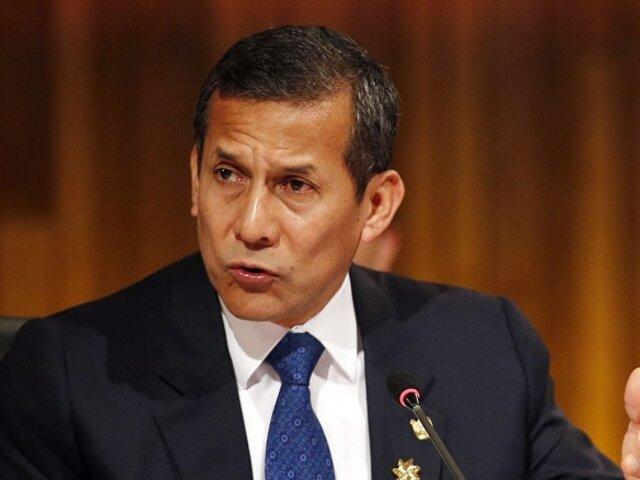 Ollanta Humala sobre Asamblea Constituyente: Va a contribuir a dividir más el país