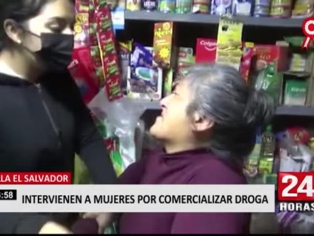 Intervienen a mujeres por microcomercializar droga en Villa El Salvador