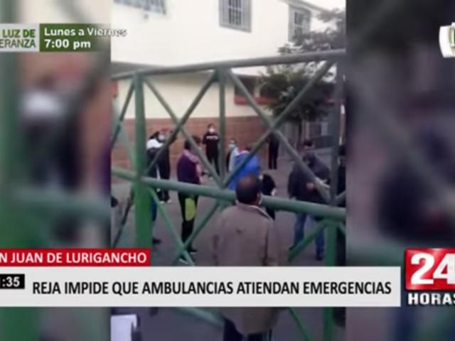 SJL: vecino denuncia que cierre permanente de reja impediría entrada de ambulancias