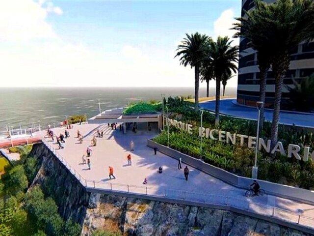 ¿Cómo van los trabajos del Parque Bicentenario de Miraflores?